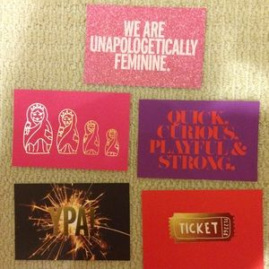 kate spade postcards - set of 5